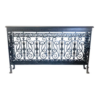 Maitland-Smith Iron & Bronze Shell Console Table For Sale