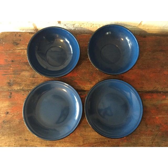 Blue and Black Rim Enamelware Set - 5 Pieces - Image 4 of 5