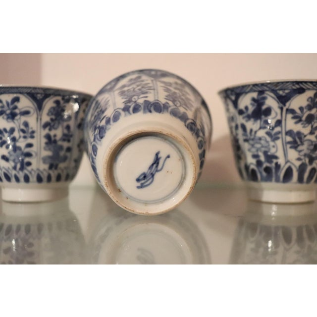 Mid 19th Century 19th Century Set of Three China Ceramic Cups For Sale - Image 5 of 8
