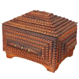 Tramp Art Keepsake Box For Sale