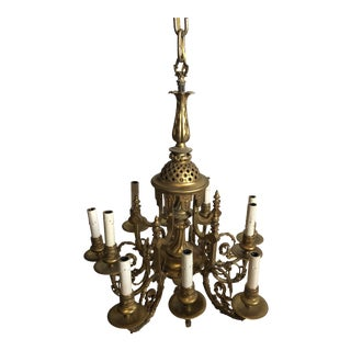 18th Century Reproduction Bronze d'Or Chandelier For Sale