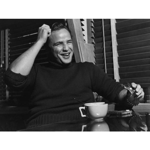 Mid-Century Modern Marlon Brando at Home in Los Angeles, 1953 by Sid Avery 16x20 For Sale - Image 3 of 3