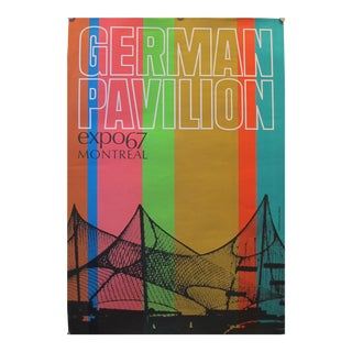 1967 Vintage Montreal Expo 67, German Pavilion