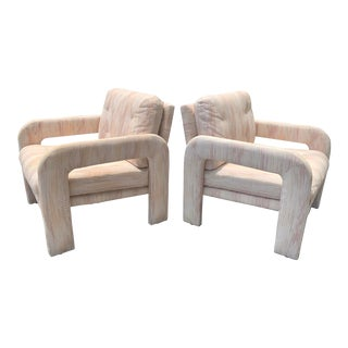 Vintage Carsons Sculptural Mid Century Modern Lounge Chairs - a Pair For Sale