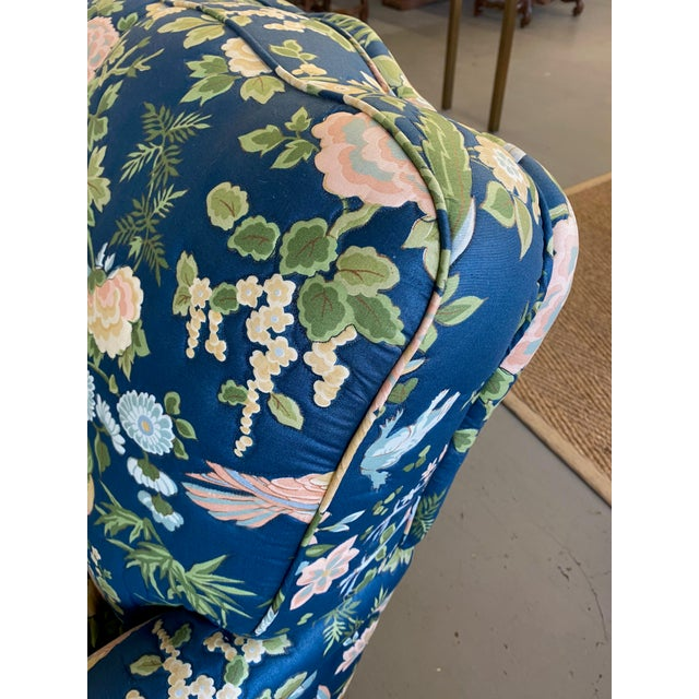 Vintage Quilted Chairs and Ottoman - Set of 3 For Sale - Image 9 of 10