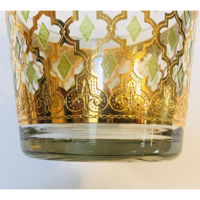 1960s Mid-Century 22-Karat Gold Leaf Plates and Ice Bucket by Culver - Set of 3 For Sale - Image 9 of 10
