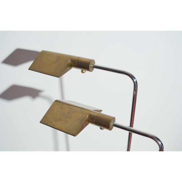 Cedric Hartman Early Brass and Chrome Swivel Floor Lamps, 1960's - a Pair For Sale In Detroit - Image 6 of 10