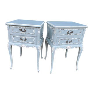 1900s Night Stands in Mint Green. -2 Pieces For Sale