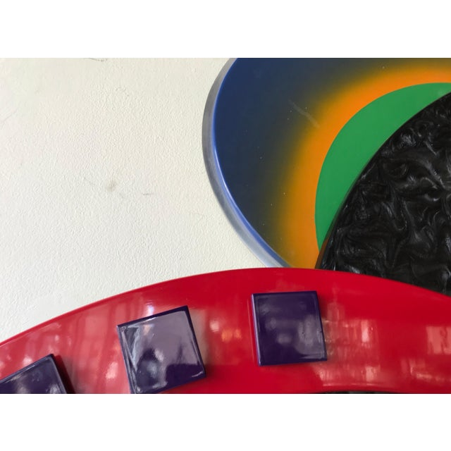 Memphis Style Multi-Media Wall Sculpture For Sale - Image 10 of 10