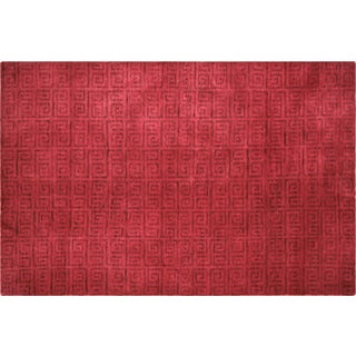 "Red Overdyed Rug - 4'10"" X 7'5"""