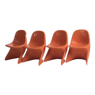 Casala Casalino Orange Stacking Child's Chair - Set of 4