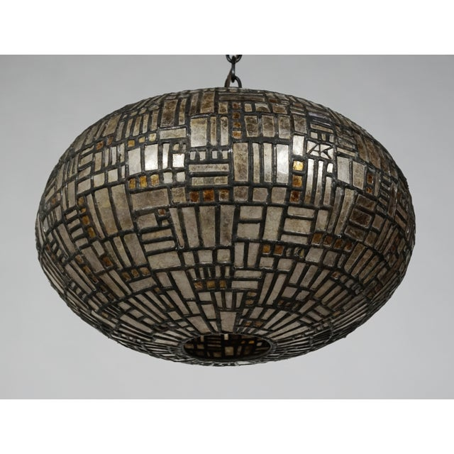 Leaded Mica Hanging Sculpture Light by Adam Kurtzman For Sale - Image 9 of 10