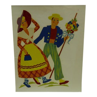 The Meyercord Co. Chicago Spring Stroll Decal / Wall Decoration For Sale
