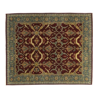 """Indian Agra Rug-7'10"""" X 10' For Sale"""