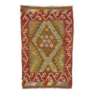 Vintage Afghani Shirvan Kilim Rug With Tribal Style - 02'07 X 04'00 For Sale