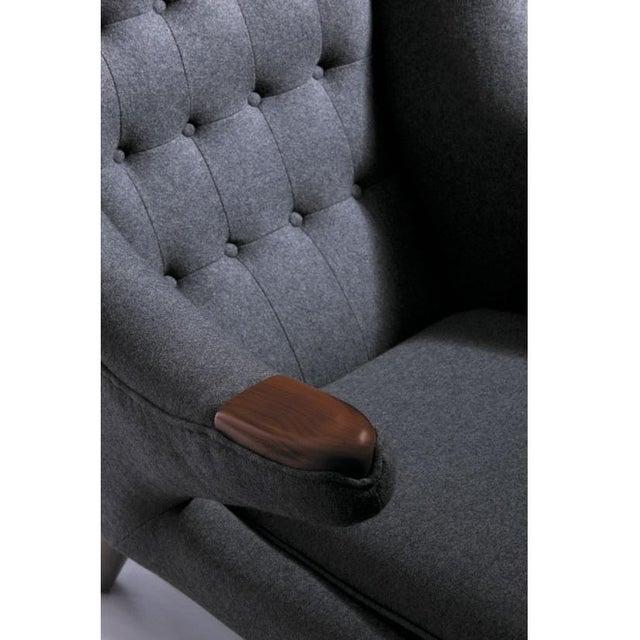 Replica Hans Wegner Style Gray Papa Bear Chair - Image 3 of 5