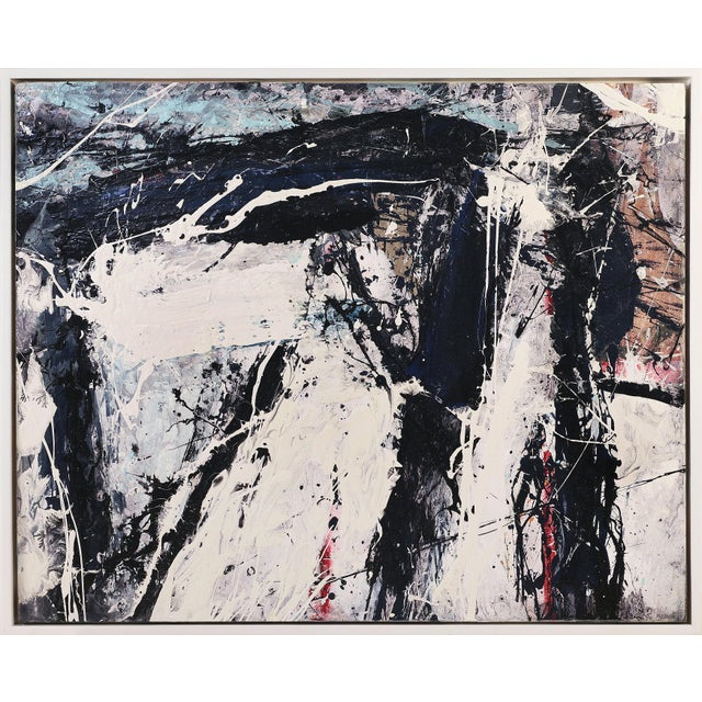 """2010s """"Black Beans"""" Abstract Painting by William Phelps Montgomery, 2019 For Sale - Image 5 of 5"""