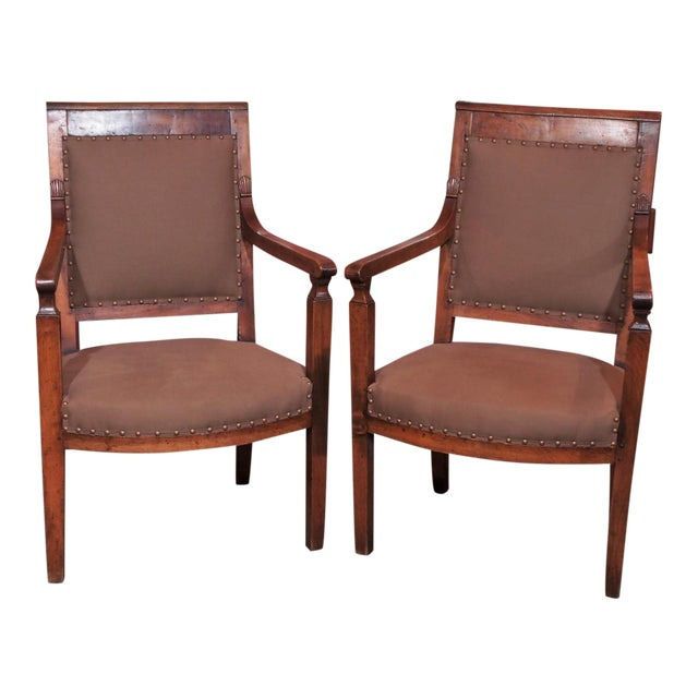 19th Century Directoire Style Armchairs - Pair - Image 1 of 6