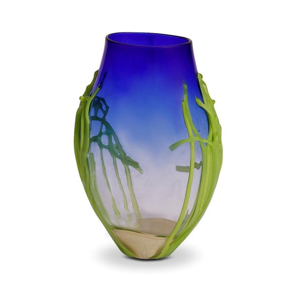 Handblown Medium Cobalt Blue Glass Vase - Image 6 of 6