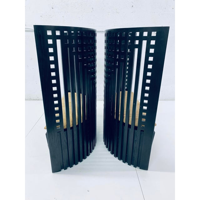 Charles Rennie Mackintosh Willow Chairs - a Pair For Sale - Image 10 of 13