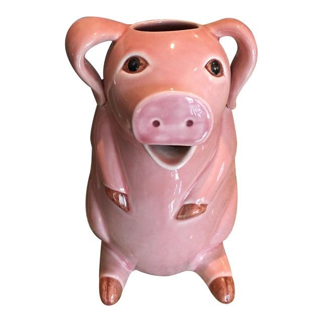 Sur La Table Pink Pig Water Juice Pitcher Carafe Jug For Sale