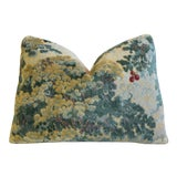 "Image of Scalamandré Cut Velvet Marly Feather/Down Pillow 22"" X 17"" For Sale"