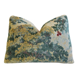 "Scalamandré Cut Velvet Marly Feather/Down Pillow 22"" X 17"" For Sale"