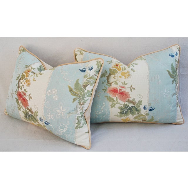 Scalamandre Silk Lampas Pillows - A Pair - Image 8 of 11