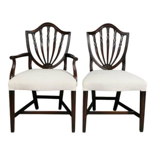 Set of Ten George III Style Mahogany Dining Chairs For Sale