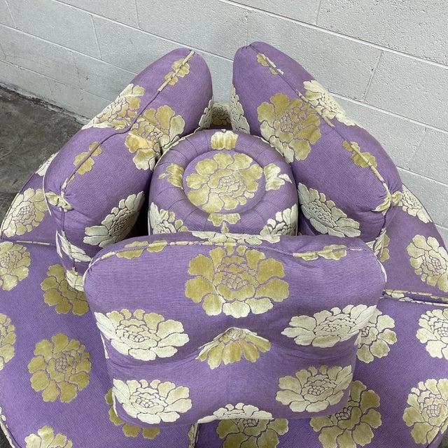 2010s John Boone Custom Upholstered Circular Sofa For Sale - Image 5 of 13