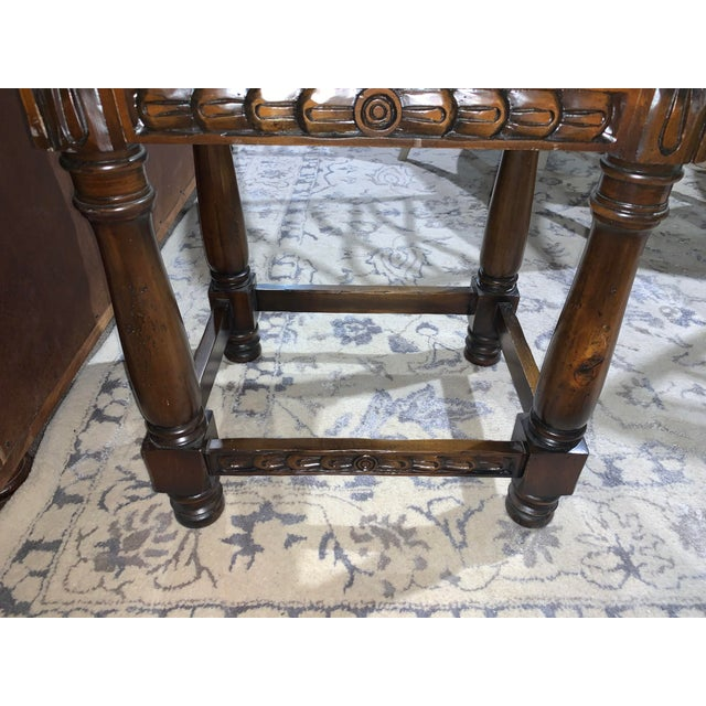 Sienna Hand Carved Wooden Vanity & Hand Painted Sink For Sale - Image 8 of 12