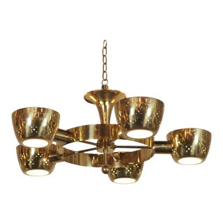 Chandelier After Gino Sarfatti for Lightolier For Sale