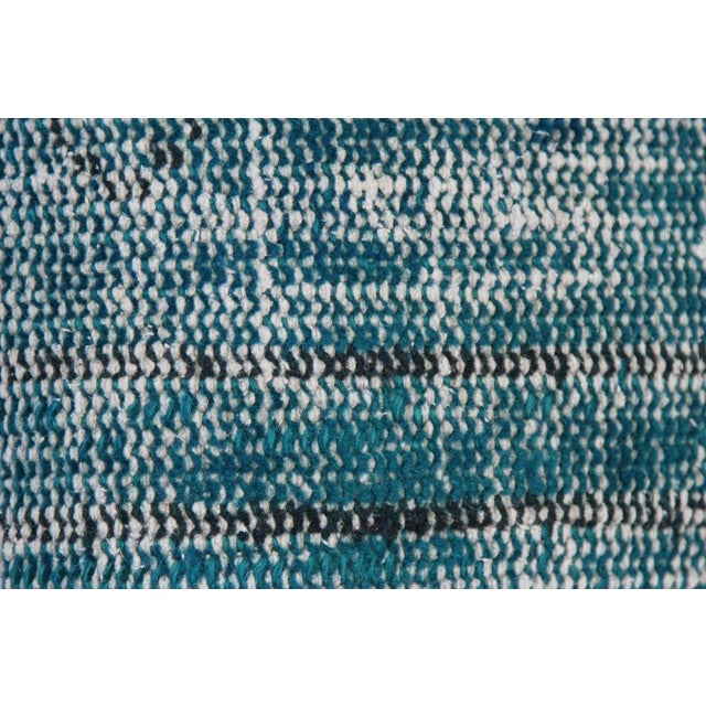 Turquoise Handmade Over-Dyed Rug Pillows - Pair - Image 6 of 7