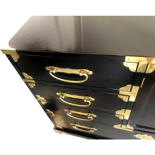 Century Furniture 1970s Chinoiserie Chest in Black and Gold by Century Furniture For Sale - Image 4 of 12