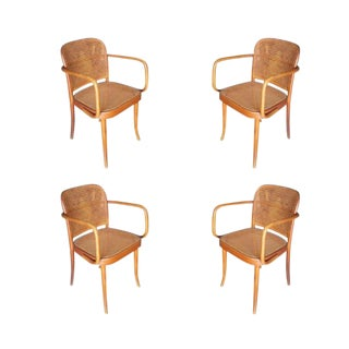 Josef Hoffmann No 811 Bentwood Cane Chair by Thonet- Set of 4 For Sale