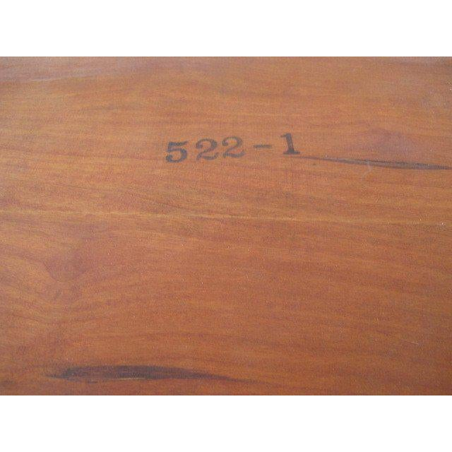 Baker Furniture Company 1950s Mid-Century Modern Finn Juhl for Baker Teak Card Table For Sale - Image 4 of 10