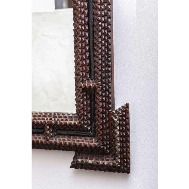 Superior Tramp Art Mirrors c. 1910 - A Pair   DECASO