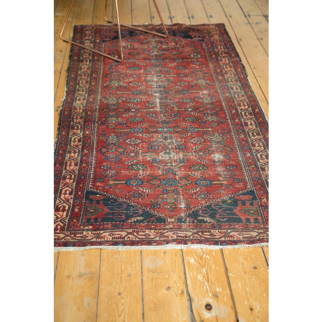 "Blue Vintage Malaye Runner - 3'4"" X 6'9"" For Sale - Image 8 of 9"