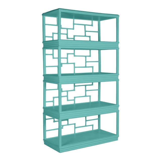 Tibet Etagere - Turquoise For Sale