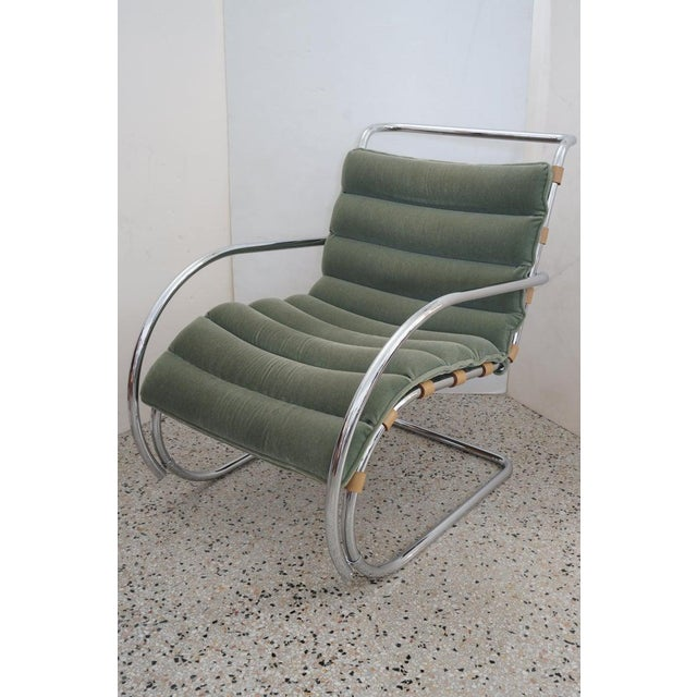 Vintage Art Deco Mies Van Der Rohe Lounge Chair by Gordon International For Sale In West Palm - Image 6 of 13