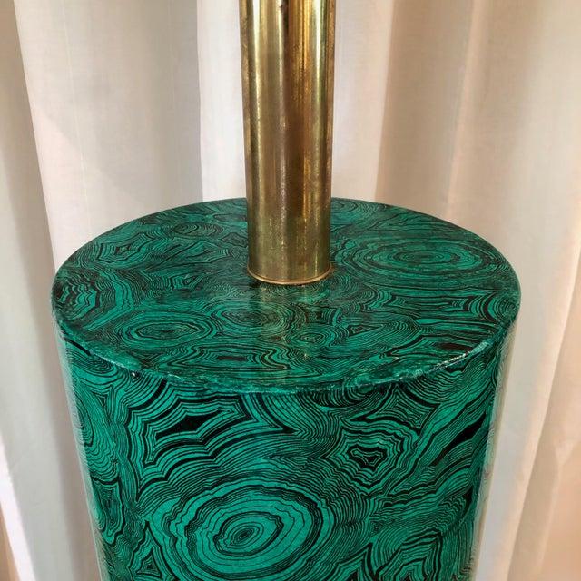 Piero Fornasetti Italian Faux Malachite Floor Lamp For Sale In New York - Image 6 of 9