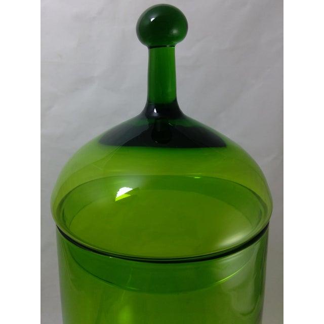 Empoli Italian Art Glass Apothecary Candy Jar - Image 3 of 11