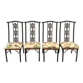 1960s Vintage Wrought Iron Chairs - Set of 4 For Sale