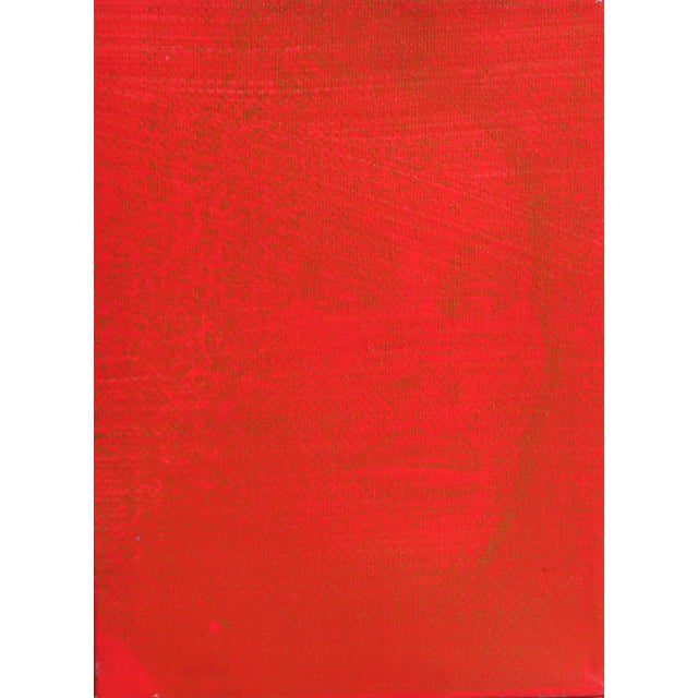 Street Art Peter Mayer, Joycelyn Wildenstein (Red/Red), Acrylic and Silkcreen on Canvas For Sale - Image 3 of 3