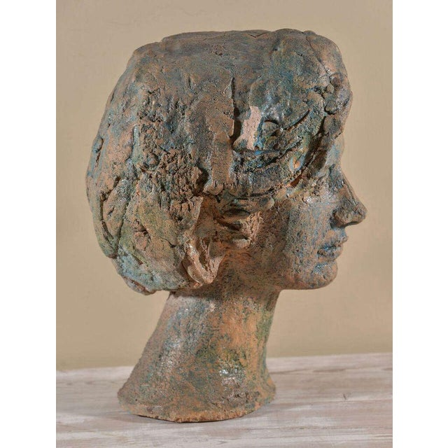 1960s Italian Painted Chalkware Bust For Sale - Image 5 of 6