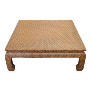 Baker Wrapped Ming Style Coffee Table