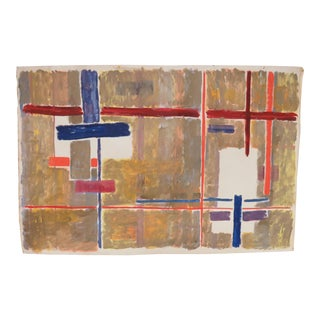 Modernist Abstract Painting by Phillip Callahan, Circa 1960s For Sale