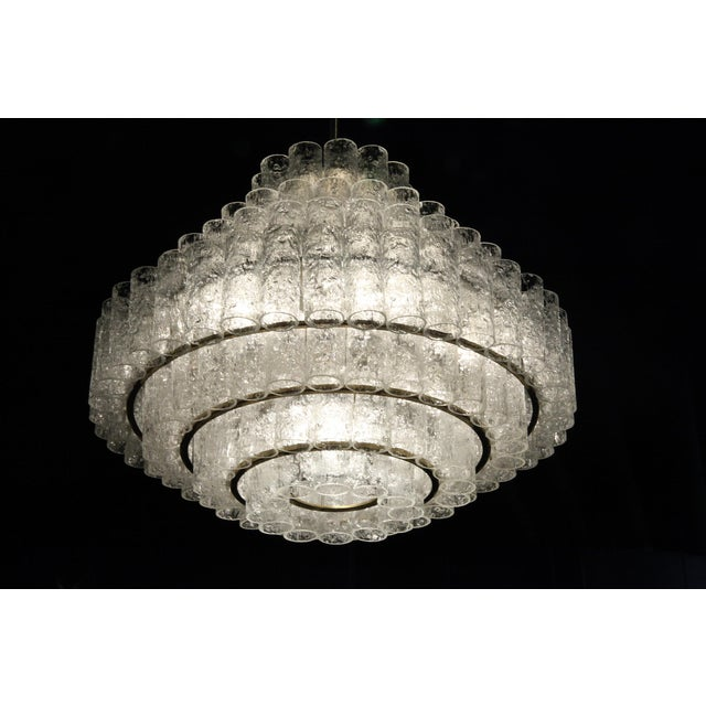 Produced by the iconic manufacturer Doria Leuchten, this stunning light is made up of seven tiers of moulded and frosted...
