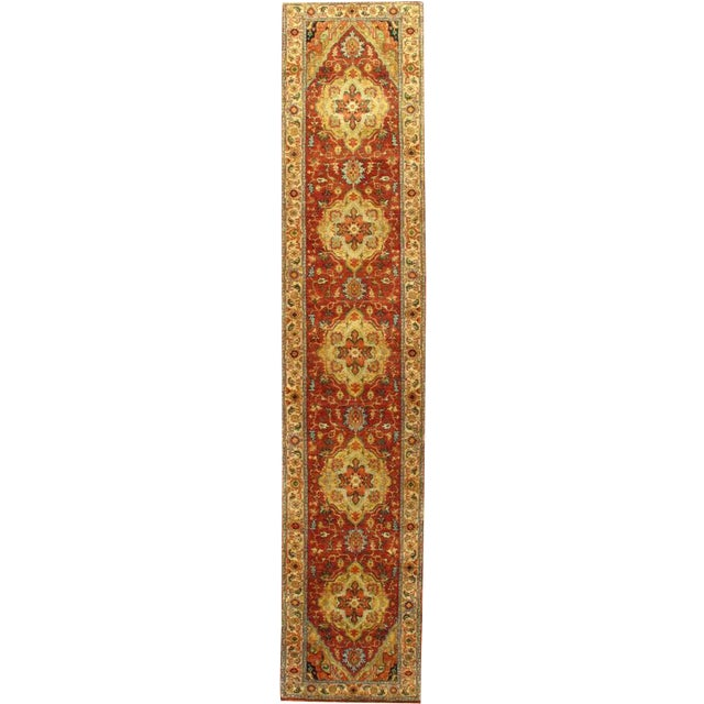"Pasargad Hand-Knotted Serapi Rug - 2' 5"" X 11' 10"" - Image 1 of 2"