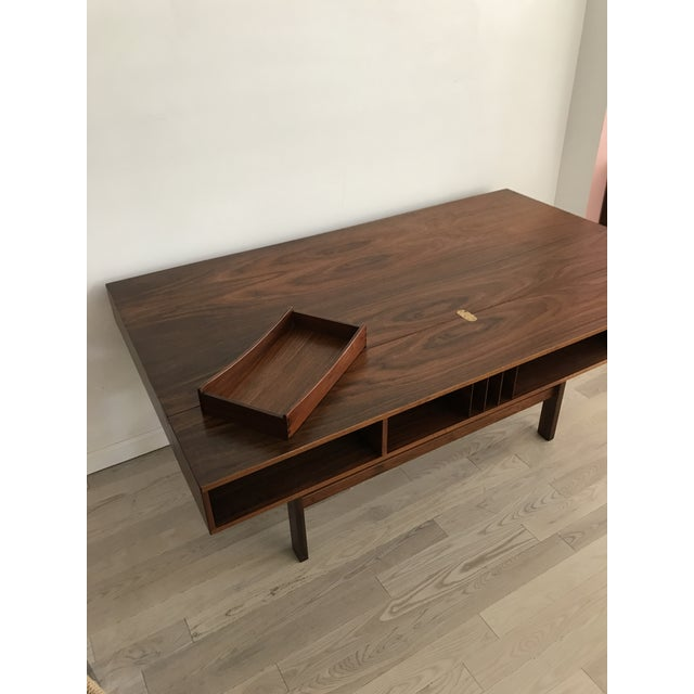 Peter Lovig Nielsen Rosewood Folding Dansk Danish Desk Circa 1965 - Image 9 of 11